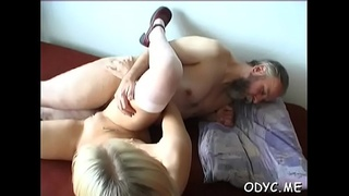 Juvenile amateur honey sucks and fucks an older guy passionately