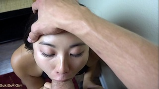 EPIC 30 minute THROAT FUCK with sukisukigirl @andregotbars