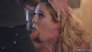 Dude rough anal banged busty gagged Milf