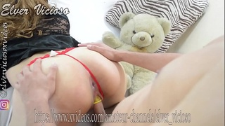 Voyeur ... watch how Elver Vicioso fucks a really young girl novinha colegiala .. her first ANAL ever (see her blood in bloopers) ..cum in her mouth