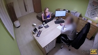 LOAN4K. Miss can'_t refuse offer of loan manager and gets fucked