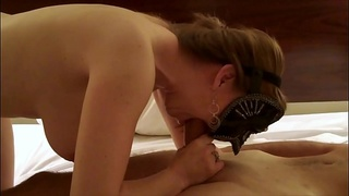 HotWife Amber - BJ with Deepthroat, 69 and Cum on Tits with Arn