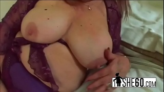 Epic blonde milf sucks on a huge cock