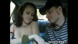 Filming hot babe that gets punished by his monster penis