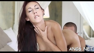 Guy is driving babe insane with his vehement licking