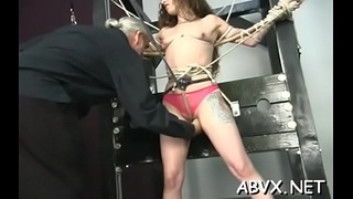 Nude woman spanking video with extreme servitude