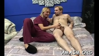 Lascivious woman enjoys complete femdom with humiliation