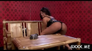 Perverted lesbian babe gets fur pie licked with a toy up her ass