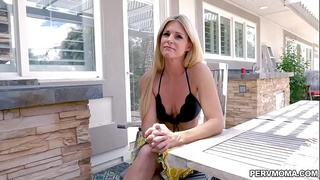 Sexy milf India Summer gobbles her stepsons man meat!