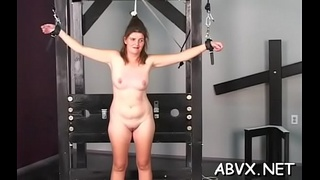 Stripped wife bizarre home porn in rough bondage amateur scenes