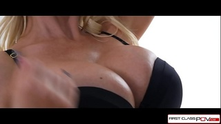 Hot blonde Milf sucking a monster cock - FirstClassPOV