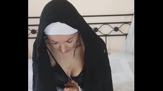 sister chantal is a really devout nun: she could worship the penis for now whole