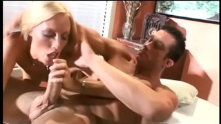 Lusty blond with wet pink pussy gets licked, fucked, then cums