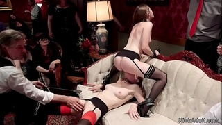Lesbians rimming and fucking bdsm orgy