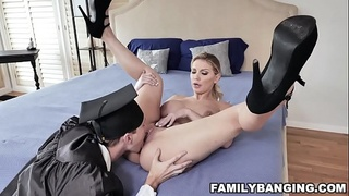 Hot Sexy MiLF Stepmom With Big Natural Tits Get Her Pussy Eaten and Fucked By Her Stepson