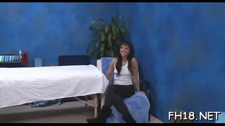 Legal age teenager gets massaged then screwed by her therapist