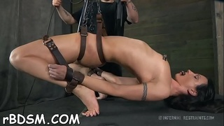 Bounded villein angel is getting a lusty pussy punishment