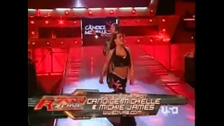 Mickie James and Candice Michelle vs Beth Phoenix and Jillian Hall.