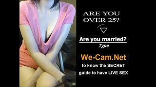 Half-asian girl fuckpussy with her finger on webcam