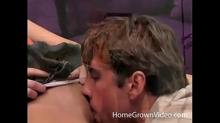 Flat chested blonde fucked hard by a big dick