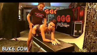 Gorgeous sweethearts'_ mouths filled to the brim with sex ball batter