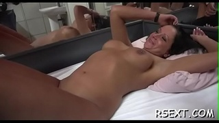 Horny hooker gets good tits licked and rides a hard cock