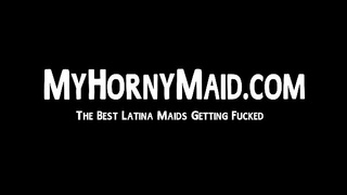 Good looking latina maid fucks wildly with her boss in POV