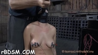 Tied up beauty waits with fear for her next hawt castigation