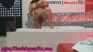 Nicole Leyva behind paid video call cameras with premium client