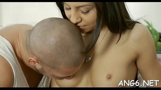 Sweet darling is delighting hunk with her blowjob and wet vagina