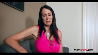 Mom grabs SONS attention and then HIS DICK