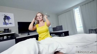 Jenna James fucked in sideways position by her stepson!