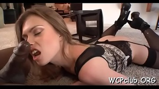 2 passionate white sluts are sharing one huge darksome dick