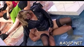 Bitches with deep face holes show their skills at a sex party