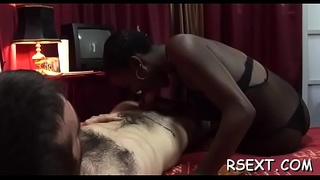 Delicious hooker gets her pussy licked and fucked balls unfathomable