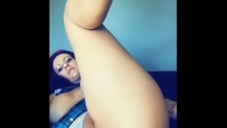 Melody Radford&rsquo_s sexy Snapchat videos anal buttplug pussy milf naughty schoolgirl