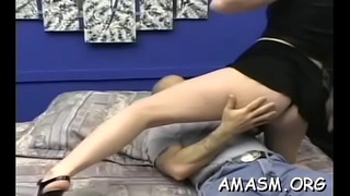 Adult females face sitting stud in wicked femdom porn show
