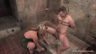 Sexy blonde beauty gives perfect BDSM