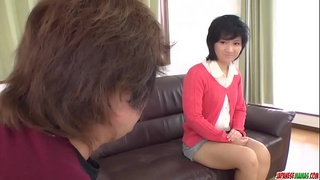 Saki Umita butt fucked during casting by horny man - More at Japanesemamas com