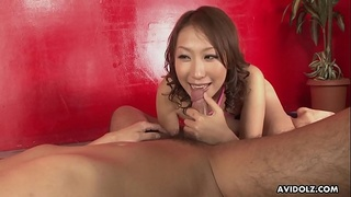 Busty Asian doll enjoys hardcore fuck session with hairy guy