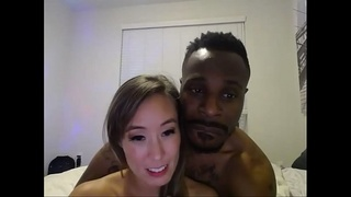 Tiny asian CLCA69 gets in double BBC threesome