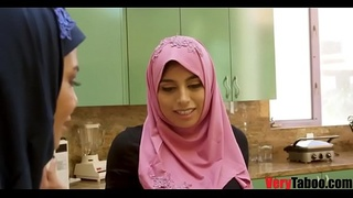 GIRL IN HIJAB rides her stepdad- DUBAI STORIES