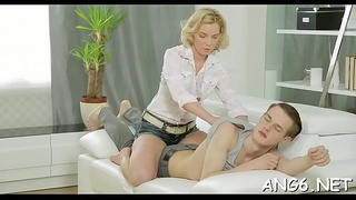 Dude is driving sweetheart insane with his delightsome anal pounding
