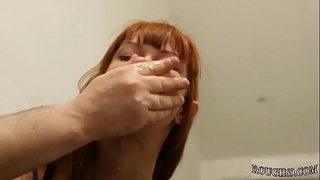 Teen slut gets creampie And he made her eat his backside and feet.