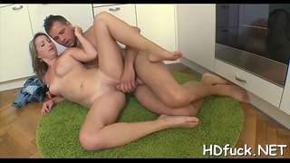 Naughty dilettante babe rides huge darksome cock extremely hard