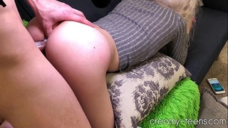 Girlfriend hates me so I fuck her while she watches porn