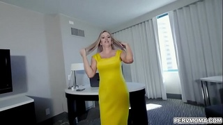 Gorgeous MILF Jenna Jones was stressed and her naughty stepson help to calm her by fucking her mature wet pussy.