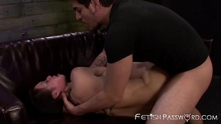 Deepthroating Asian Kimmy Lee drilled in sex dungeon