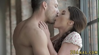 Cutie sucks and gets anal