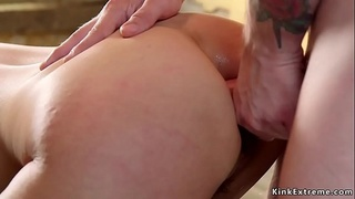 Hairy Japanese whipped and butt banged